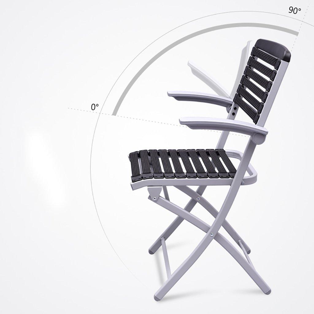 Stol hem hopfällbar dator ryggstöd stol enkel kontorsmöte fåtölj (storlek: 48 x 48 x 89 cm) (färg: A) a