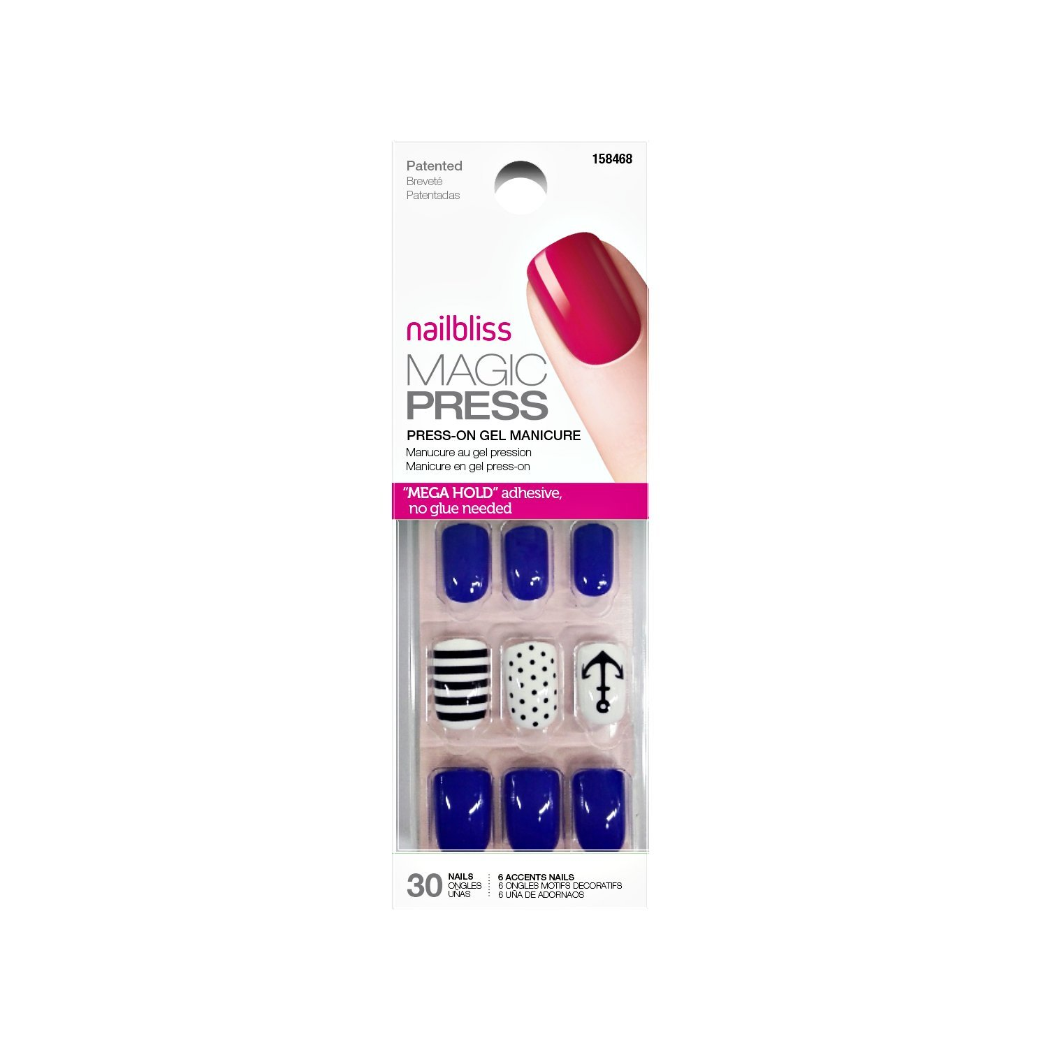Amazon.com : Nail Bliss Super Nova Magic Press On Nails Super Nova ...
