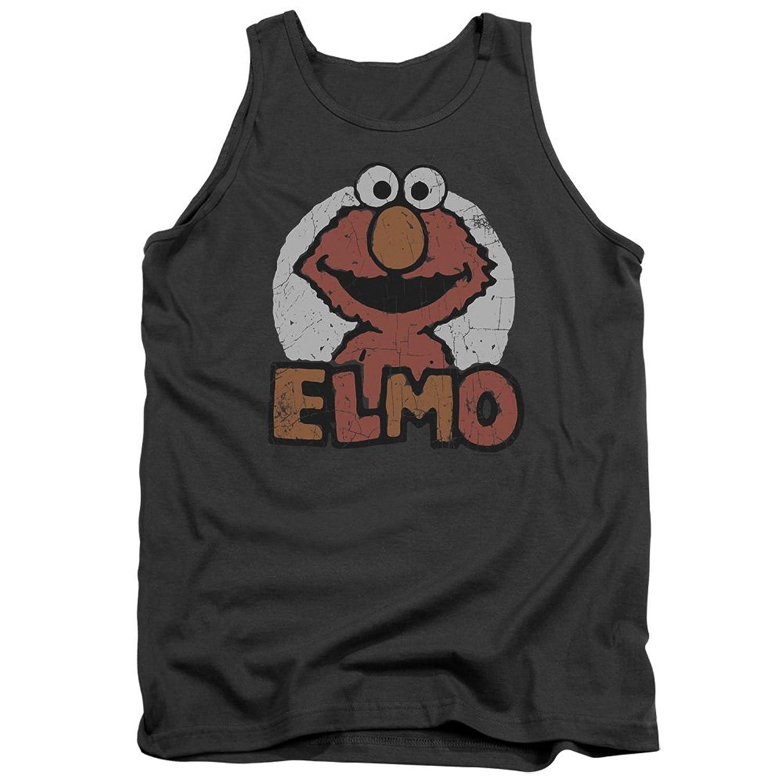Sesame Street Classic Children's TV Show Elmo Distressed Adult Tank Top Shirt