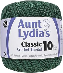 Coats Crochet Classic Crochet Thread, 10, Forest Green