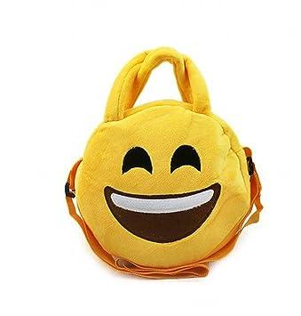 Peluche Emoji sonrisa bolso de mano. bolso de la felpa bolso del juguete bolsa de