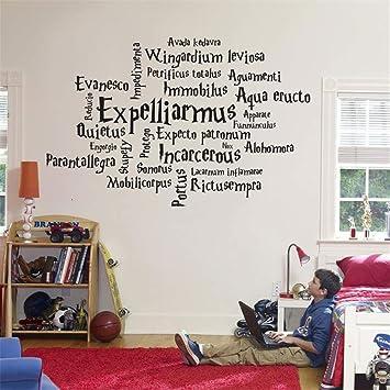 Wandtattoo Kinderzimmer Wandtattoo Wohnzimmer Harry Potter Filmpersonlichkeit Zauberspruch Anime Movie Fan Home Decoration Amazon De Baumarkt