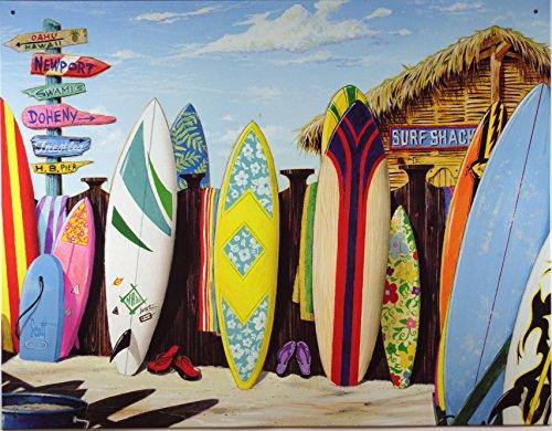 Surf Shack Tin Sign 16 x