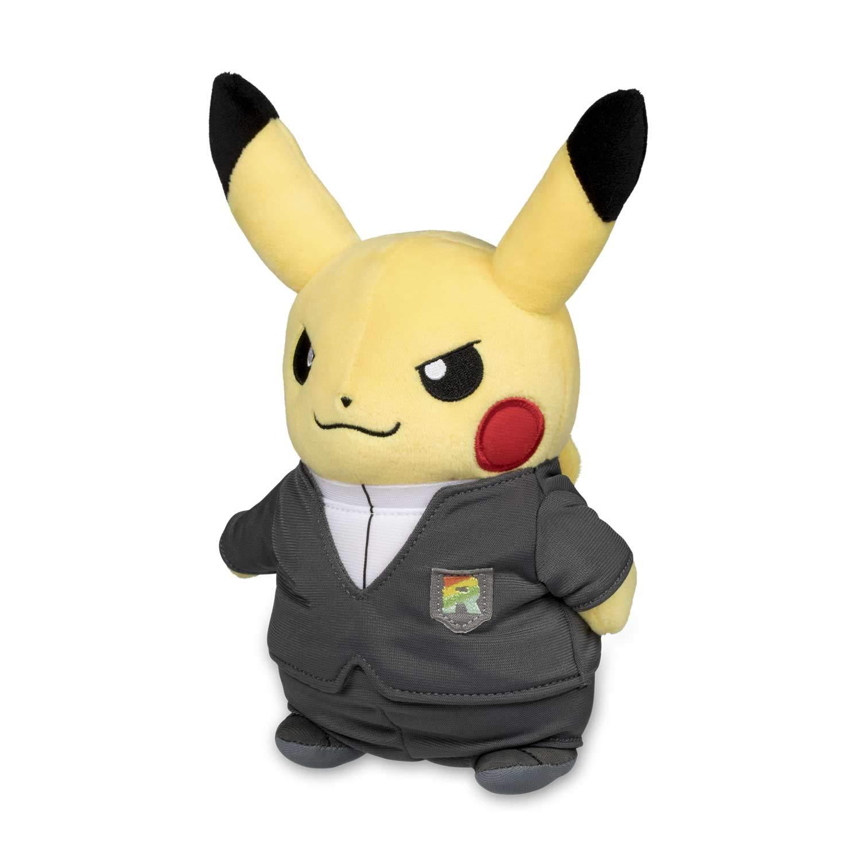 Pokemon Center Original (8.8-Inch) Poke Plush Pikachu Boss Costume (Team Rocket - Giovanni) by Pokemon