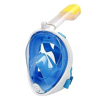 Hung Kai Máscara De Snorkel De Cara Completa, Vista Al Mar 180 ° Máscara Compatible
