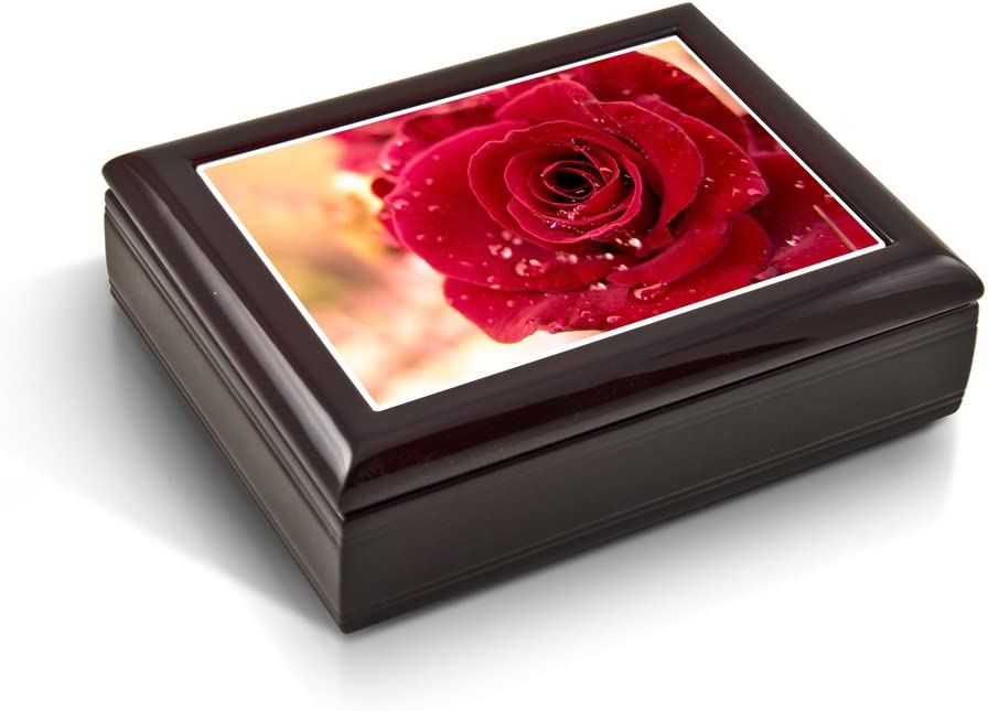 Romantic Red Rose Cheap mail Tampa Mall order specialty store with Water Beads Jewelry Box Ma - Tile Musical