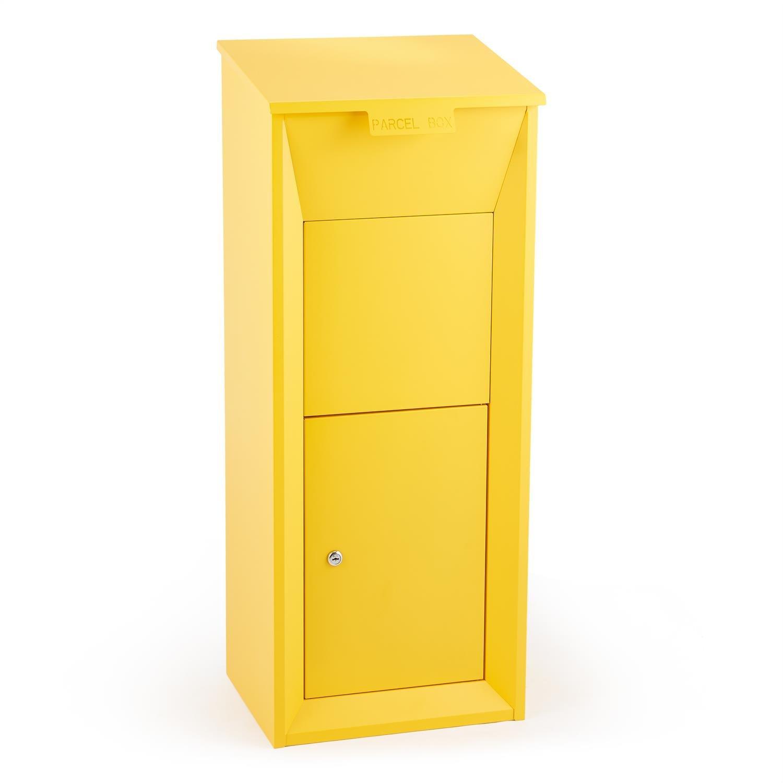 T/ür mit D/ämpfer und 3-Punkt-Schloss Bodenverankerung Waldbeck Postbutler Paketpostkasten Standbriefkasten Paketbox f/ür Pakete bis 33x19x30cm dunkelgrau