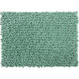 "Casale Home 847431000267 New Cut and Large Loop Microfiber Chenille Bath Rug, 20x30"", Mint"