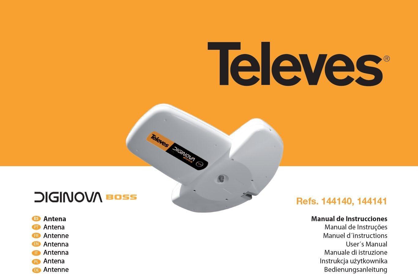 Televes - Ant. diginova boss fm/biii/uhf g-2/10/22dbi: Amazon ...