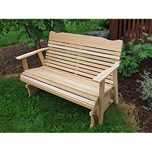 4' Cedar Porch Glider, Amish Crafted - Amish Outdoor Furniture: Amazon.com