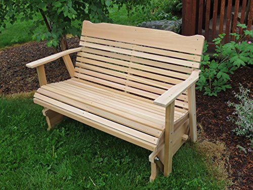 4' Cedar Porch Glider, Amish Crafted - Amish Bench