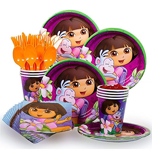 Dora Party Supplies Standard Kit Serves 8 (Dora The Explorer Costumes)