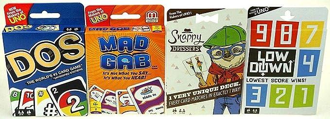 Mattel Games 8 Card Games Mega Pack - Uno, Phase 10, Dos, Mad Gab, More: Amazon.es: Juguetes y juegos