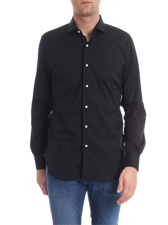BARBA Luxury Fashion Mens I1U022PZ2708UB05 Black Shirt Spring Summer 19