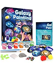 Byncceh Rock Painting Kit for Kids - Arts and Crafts for Girls & Boys Ages 6-12, Galaxy Rock Painting Kit,DIY Hide & Seek Painting Kit for Kids - Best Hallowwen for Kids