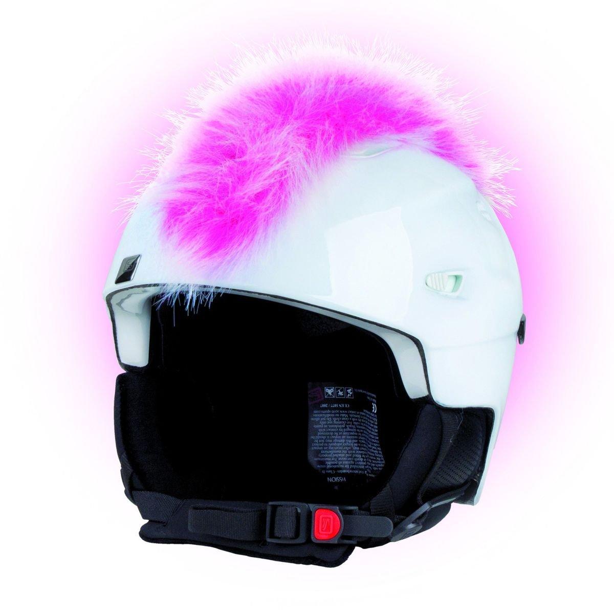 Crazy Ears Helm-Accessoires Irokese Mohawk Schwarz Weiß Pink Ski Snowboard