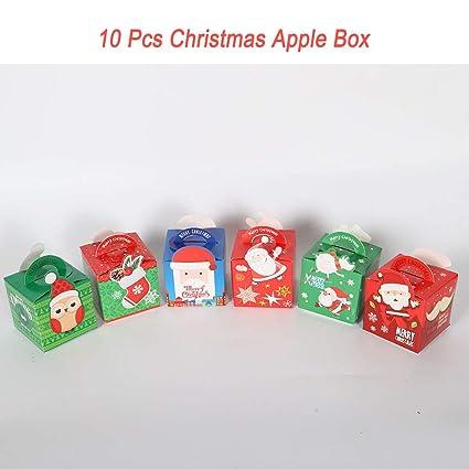 Christmas Gift Bags Diy.Amazon Com Christmas Gift Diy Paper Boxes Xmas Apple Cake