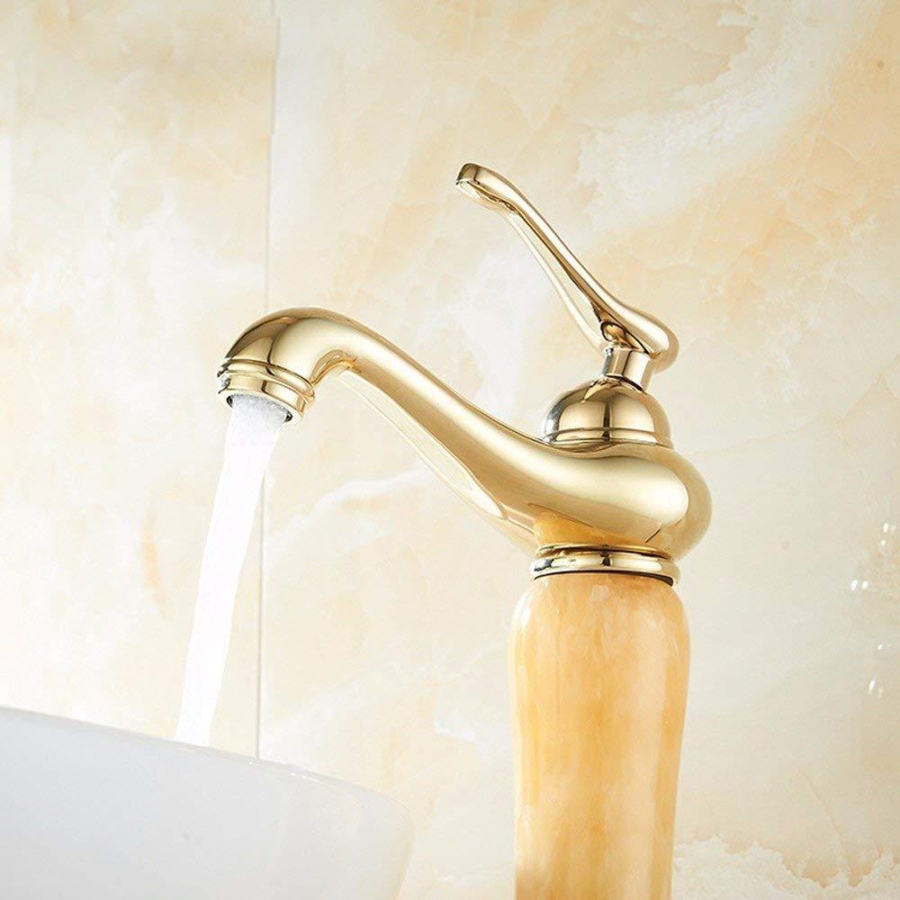 Oudan Basin Mixer Tap Bathroom Sink Faucet Antique faucet, antique gold plated taps, basin, full copper European retro hot and cold basin mixer