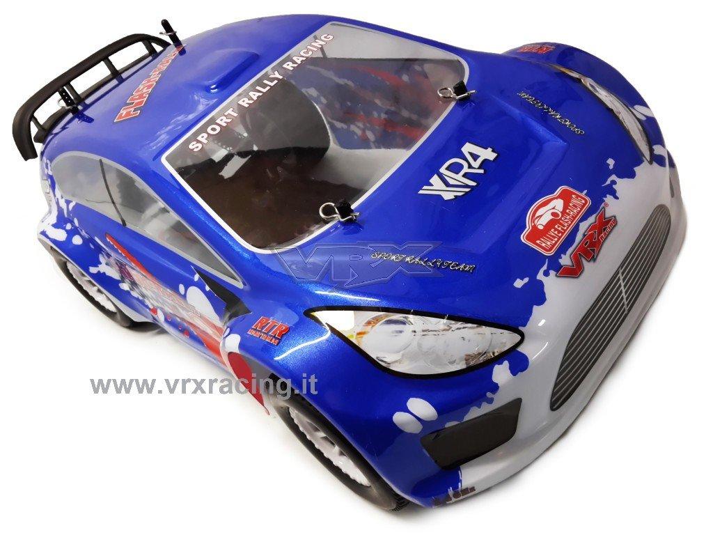 Tráfico Flash Rally ebd 1/10 Cepillos Radio 2.4 GHz Ni-MH 7.2 V RTR 4 WD VRX carrocería Azul: Amazon.es: Juguetes y juegos