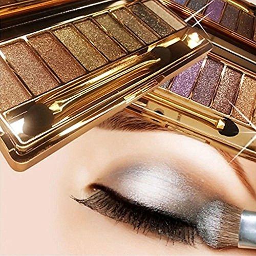 Tinffy 9 colors Waterproof Diamond Bright Makeup Eye Shadow Set Glitter Eyeshadow Palette with Brush