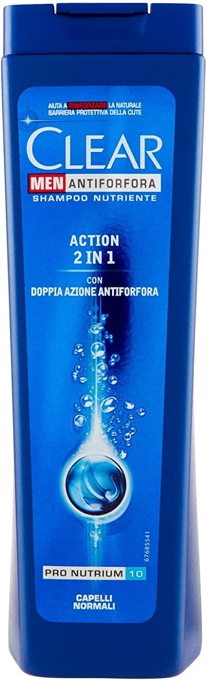 Clear – Champú anticaspa, cutículas para hombre, Cabello normal – 250 ml