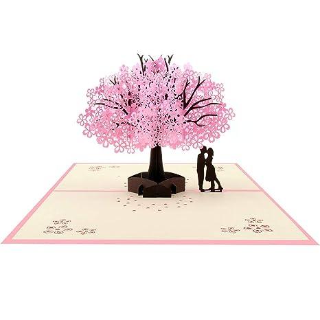 Veesun Biglietto Auguri Matrimonio Pop Up 3d Romantico Biglietti Natale Invito Compleanno Mamma Con Busta Creativo D Auguri Carta Per San Valentino