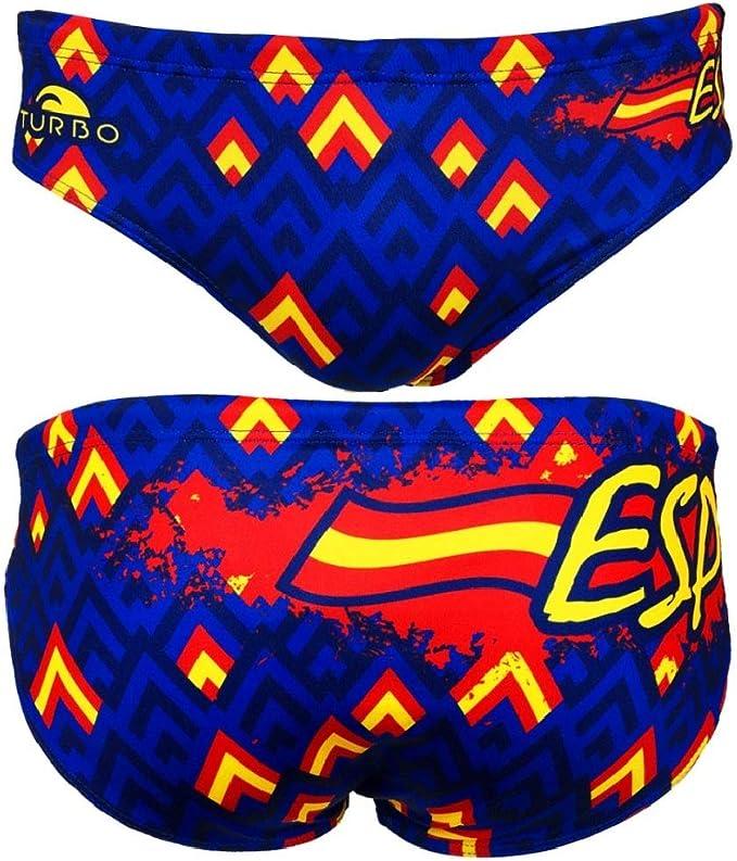 Turbo - Bañador Slip Spain ESP.Oficial de Waterpolo Competicion Natación y Triatlón Patrón de Ajuste cómodo: Amazon.es: Ropa y accesorios