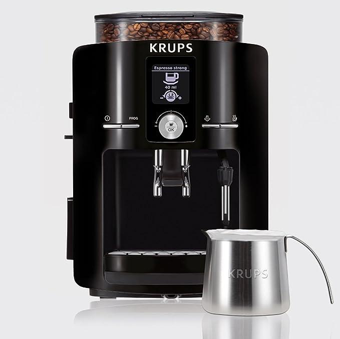 Krups EA8250 - Máquina de café, LCD, color negro, 1450 W
