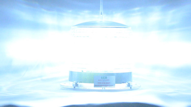 S8lfm 2nm Ip67 Solar Led Magnetic Marine Dock Barge Ac Wiring Panel Safety Beacon Light 360 Degree Blue Automotive