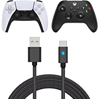 Controller Charging Cable Replacement for PS5, 9.8FT Nylon Braided USB C Charger Cord Replacement for X Box Series X…