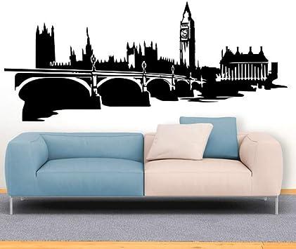 Jxlk Londres Skyline Mur Art Déco Chambre Salon Salle De