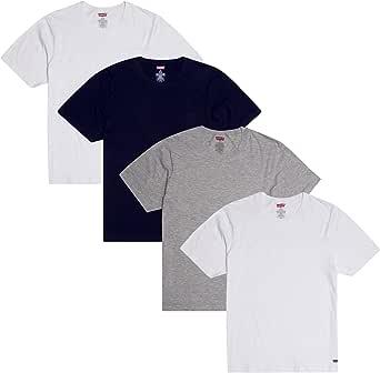 Levi's Mens T-Shirts 4 Pack T Shirts for Men, Cotton Tshirts for Men Crew Neck