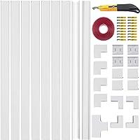 Sojitas Canaletas para Cables Pared 9 x 40CM con 17 Conectores, Dos Modos de Instalación con 4M Cinta Adhesiva y…