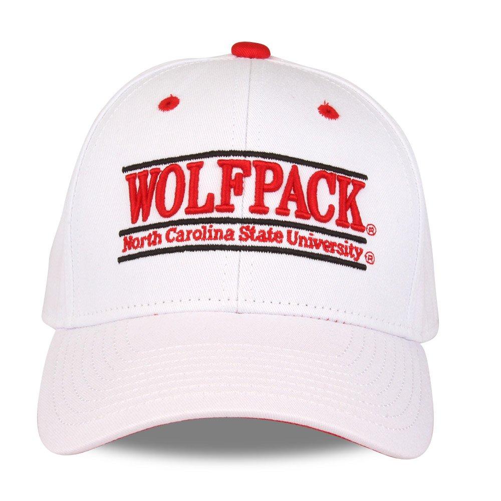 White NCAA North Carolina State Wolfpack Unisex NCAA The Game bar Design Hat Adjustable