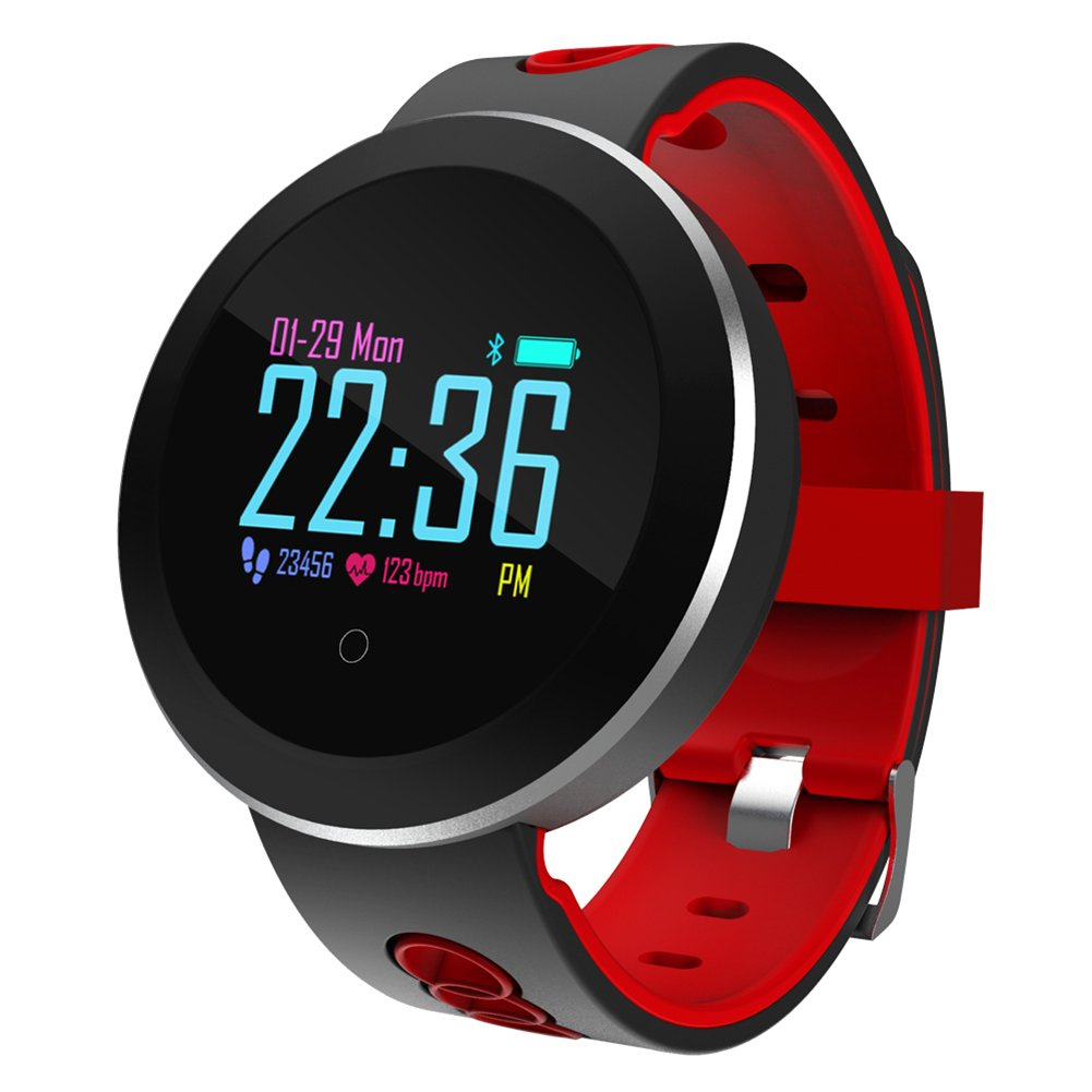Roful Rastreador de Fitness, Q8 Pro Smartwatch IP68 Pulsera Impermeable Monitor de Ritmo Cardíaco Reloj de Pulsera de Reloj Deportivo para Android iOS
