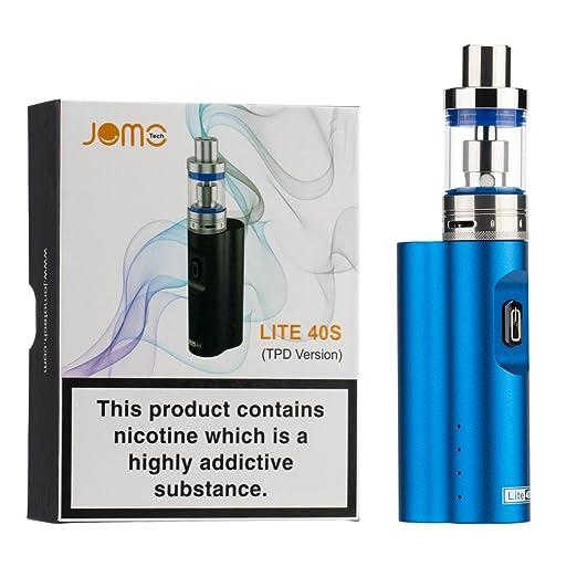 Cigarrillo Electrónico 40W, JOMO TECH Lite 40s 2200mAh Batería 0.5 oHm+2 mL Atomizador Kit de E-Cigarrillo, Sin Nicotina Sin Tabaco y Sin E-líquido (Azul): ...