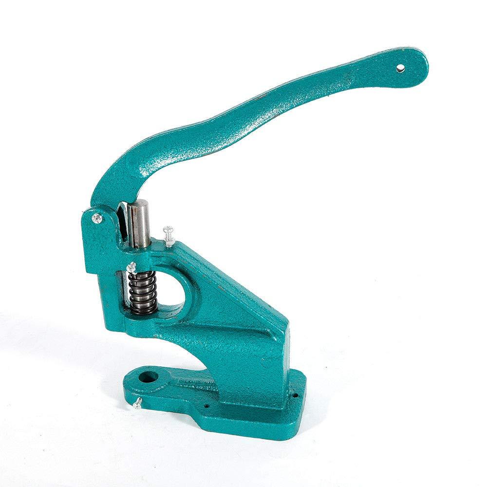 Hand Press Grommet Machine Multi-Purpose Grommet Press Machine 3 Dies (#0#2#4) And1500pcs Yellow Grommets Eyelet Tool Kit by RANZHIX