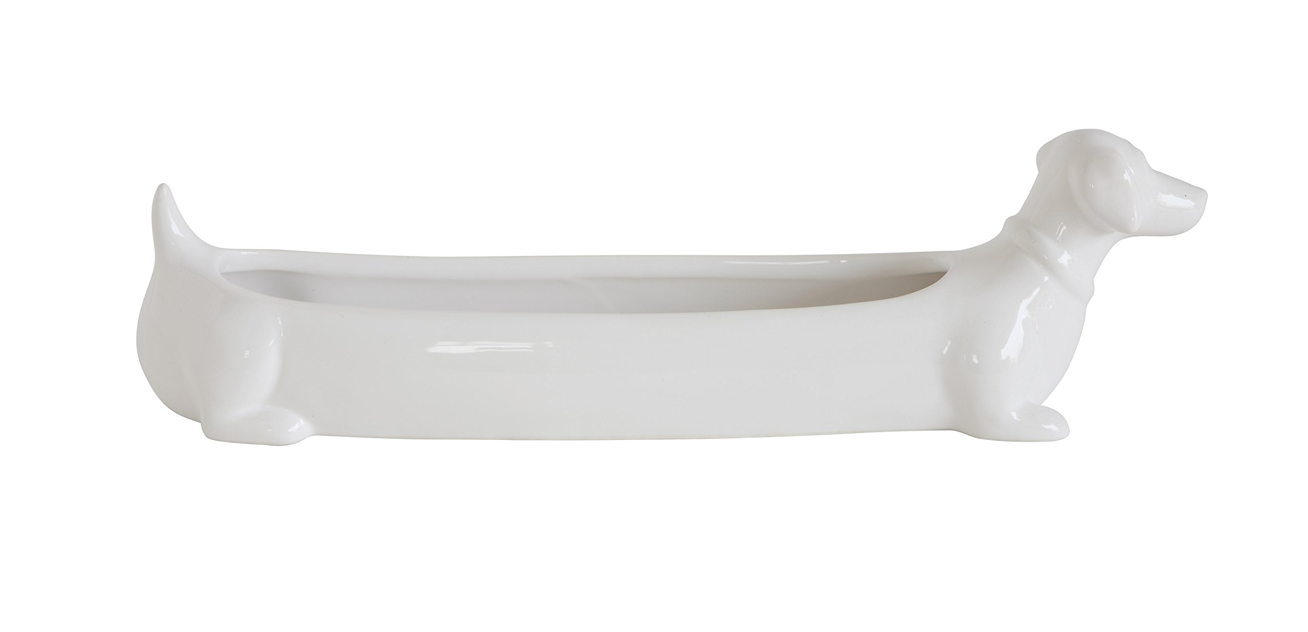 Creative Co-Op DA7590 Cracker Dish, 10.5''L x 3''W x 5.5''H, White