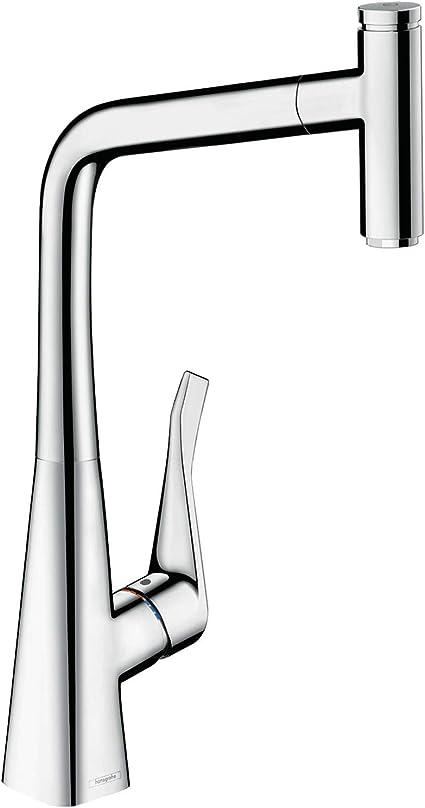 Hansgrohe Metris Select Einhebel Küchenarmatur Komfort Höhe 320 Mm Mit Ausziehauslauf Und Schlauchbox Chrom Baumarkt