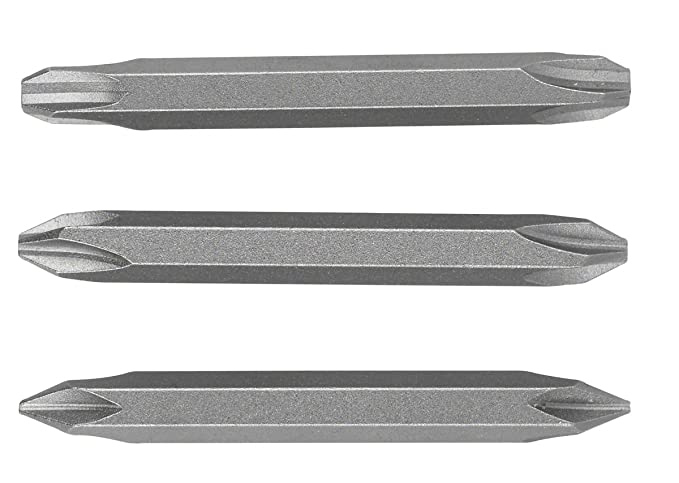 3 Pieces Bosch 2609255959 Double Ended 60mm Screwdriver Bit Set with Standard Quality