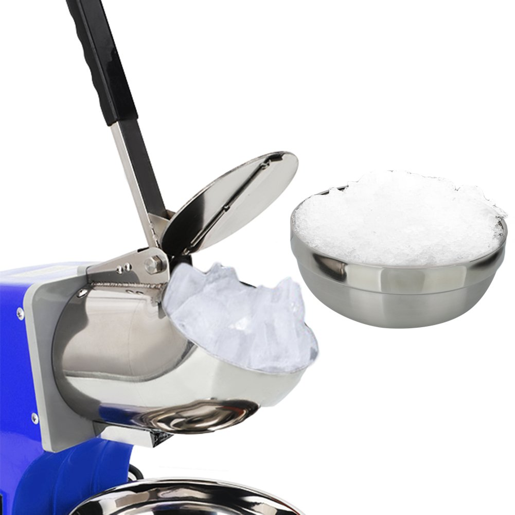 ROVSUN Ice Shaver Machine Commercial Countertop Dual Blade 220lbs/h, Electric Shaved Ice Machine Stainless Steel Ice Crusher 1400 rpm Snow Cone Maker(Blue) by ROVSUN (Image #7)