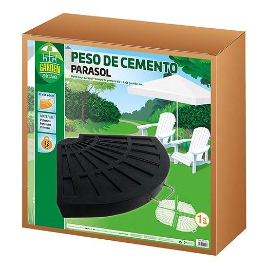 Aktive Garden 53900 - Base para Sombrilla Cemento, 47 x 64 x 4 cm, 12 Kg