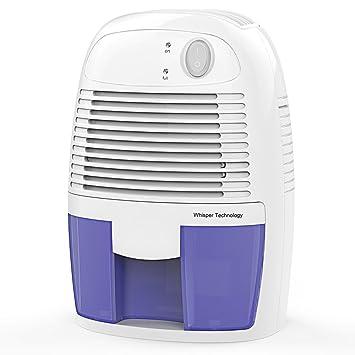 Hysure Portable Mini Dehumidifier Air Purifier 1200 Cubic Feet Electric  Safe Dehumidifier Bedroom Home Crawl Space