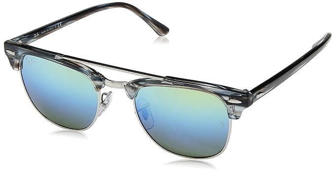 a08e6a8f575 Ray-Ban 0rb38161239i251clubmaster Doublebridge Non-Polarized Iridium Square  Sunglasses