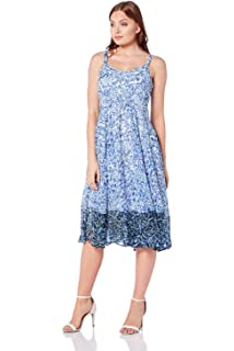 4767db859704 Roman Originals Womens Paisley Print Skater Dress - Ladies Summer Spring  Daywear Fit and Flare Floral