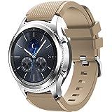 Gosuper Morbido Cinturino di Ricambio in Silicone per Lo Sport Samsung Gear S3 Frontier/S3 Classic/Galaxy Watch 46mm Smart Watch