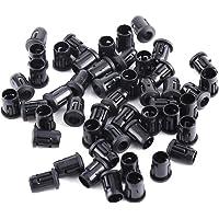 50 Unids Plástico Negro Lámpara Diodo Holder, Lámpara