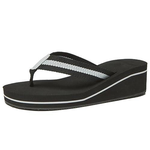 355282a6e9773f NewDenBer Women s Comfortable Wedge Flip-Flop (10 B(M) US