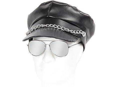 Gorra marinera y gafas de aviador estilo rockero/aviador ...