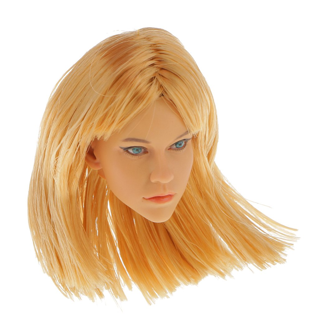 Magideal 1 6 Scale Action Figure Female Blonde Hair Head Sculpt Km15 13 For 12 Inch Hot Toys Phicen Kumik Body Games